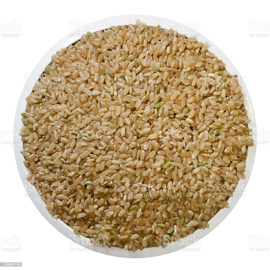 Brown Rice (with Path) royalty-free stock photo