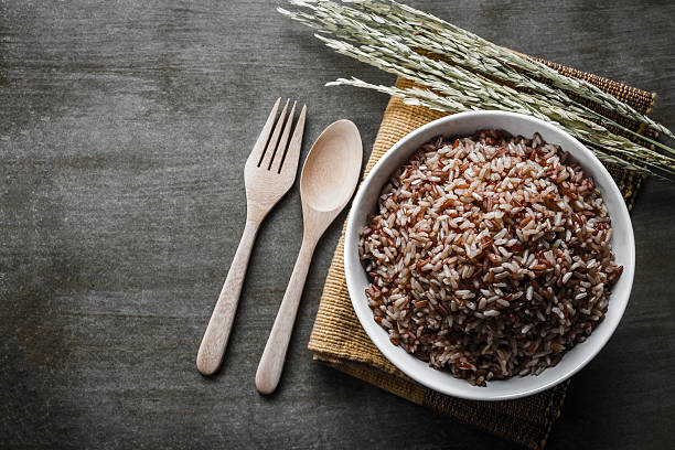 Arroz integral  - foto de stock