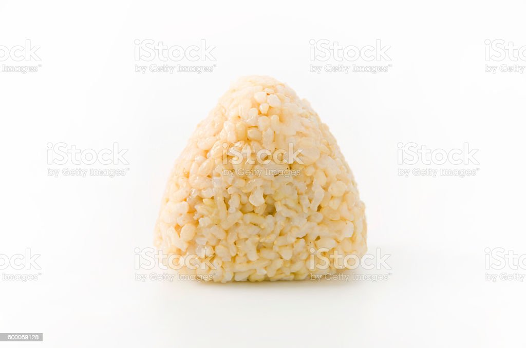 brown rice rice ball stock photo