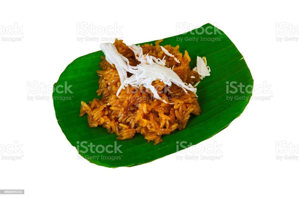 Brown rice sweet stock photo