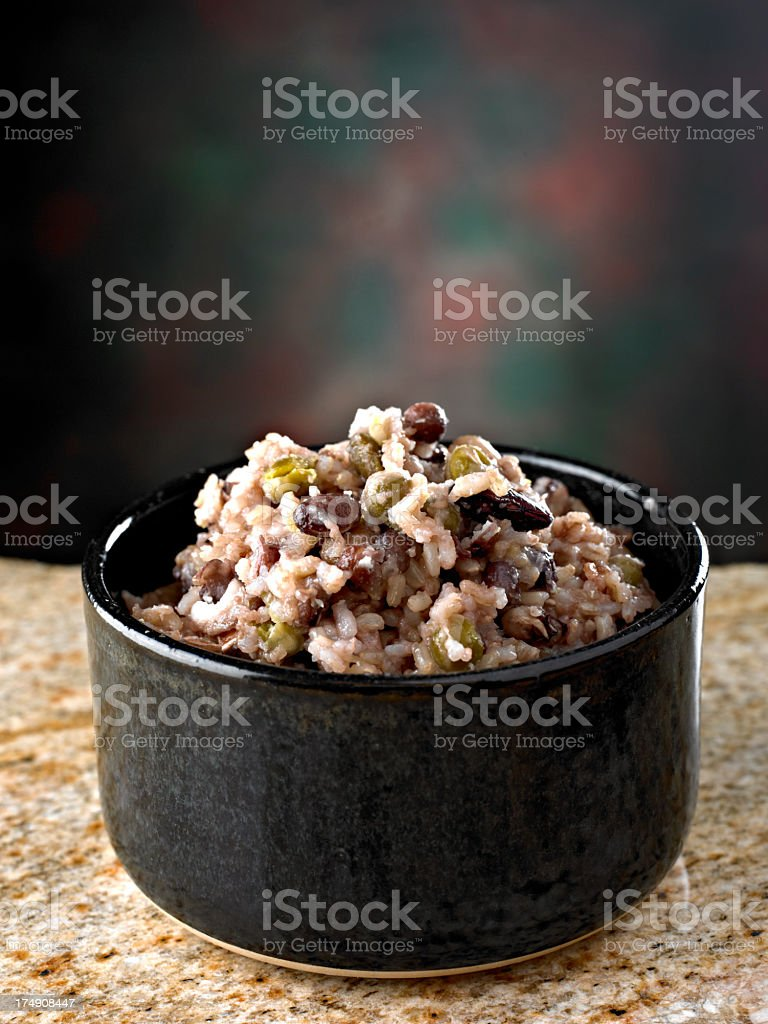 Brown Rice with Beans royalty-free stock photo