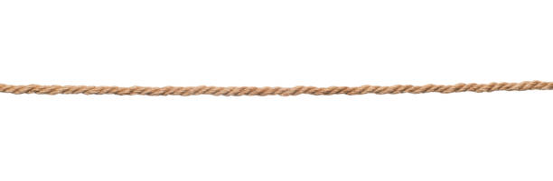 brown rope isolated - string stock photos and pictures