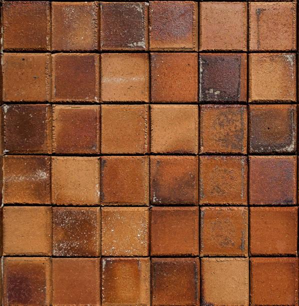 Brown rustic floor tiles texture stock photo
