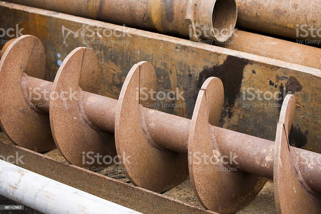 Brown rusty metal pipes royalty-free stock photo