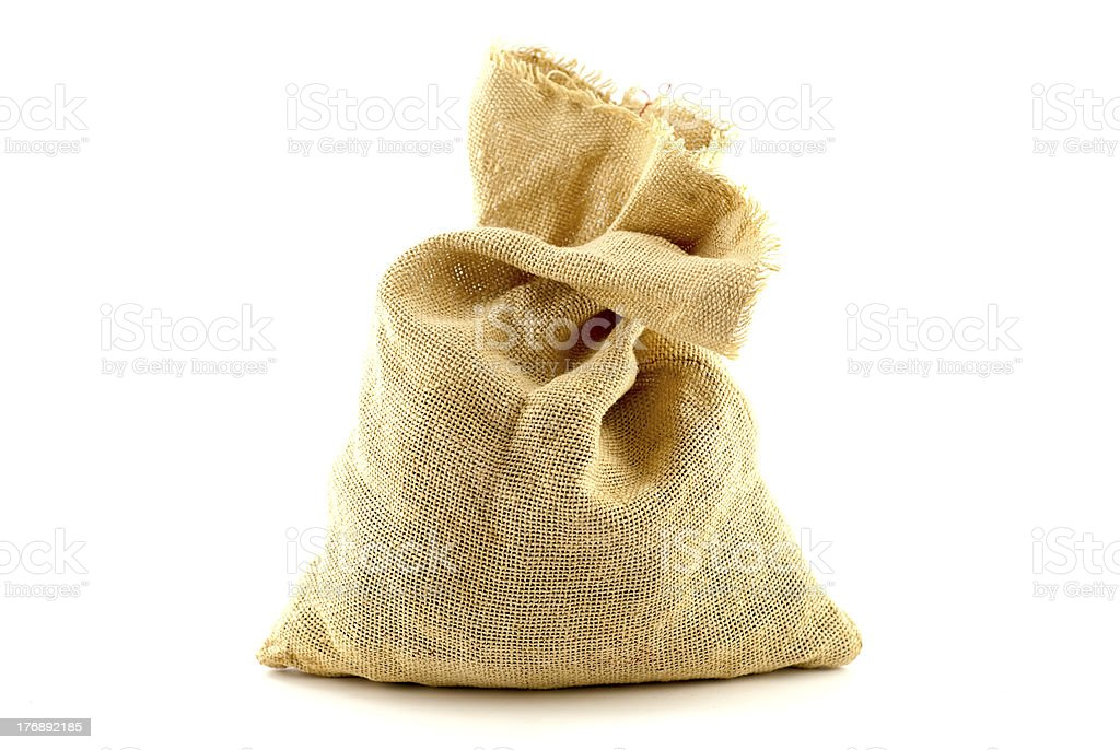 Brown sack royalty-free stock photo
