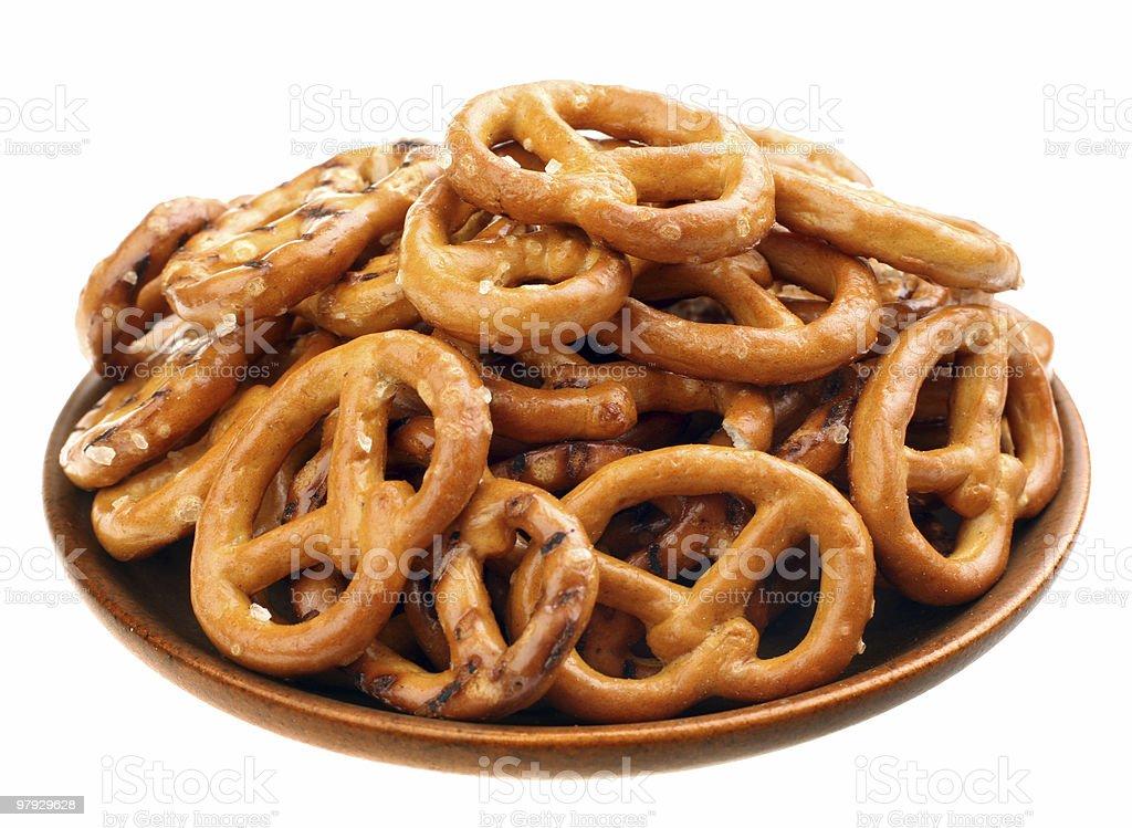 Brown salt snak royalty-free stock photo