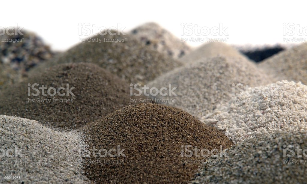 brown sand piles to one another royalty-free stock photo