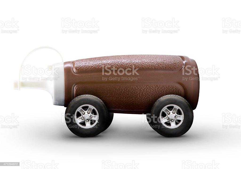 Brown Sauce Car stock photo