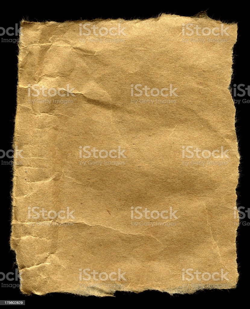 Brown Scrap Paper royalty-free stock photo
