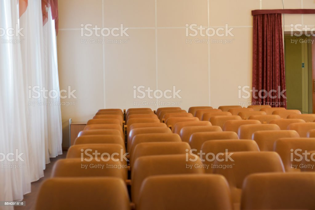 brown seats in concert hall brown . royalty-free stock photo