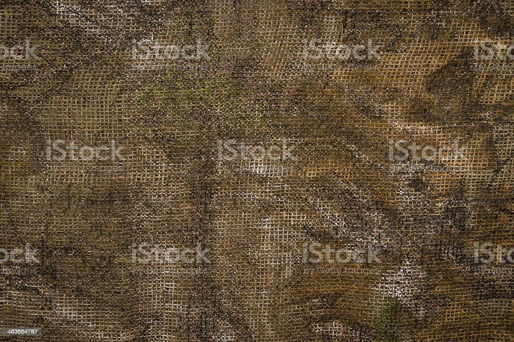 A brown sheet made with cloth material stock photo
