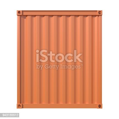944243850 istock photo Brown ship cargo container back view 943155512
