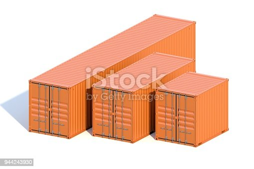 944243850 istock photo Brown ship cargo containers 10 20 and 40 feet length 944243930