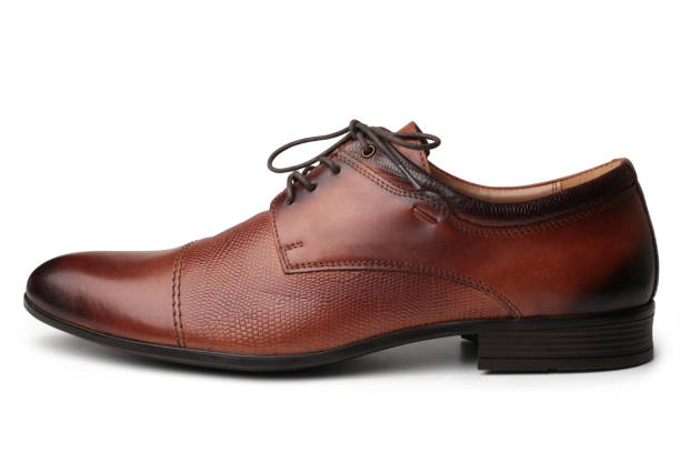Brown shoe stock photo