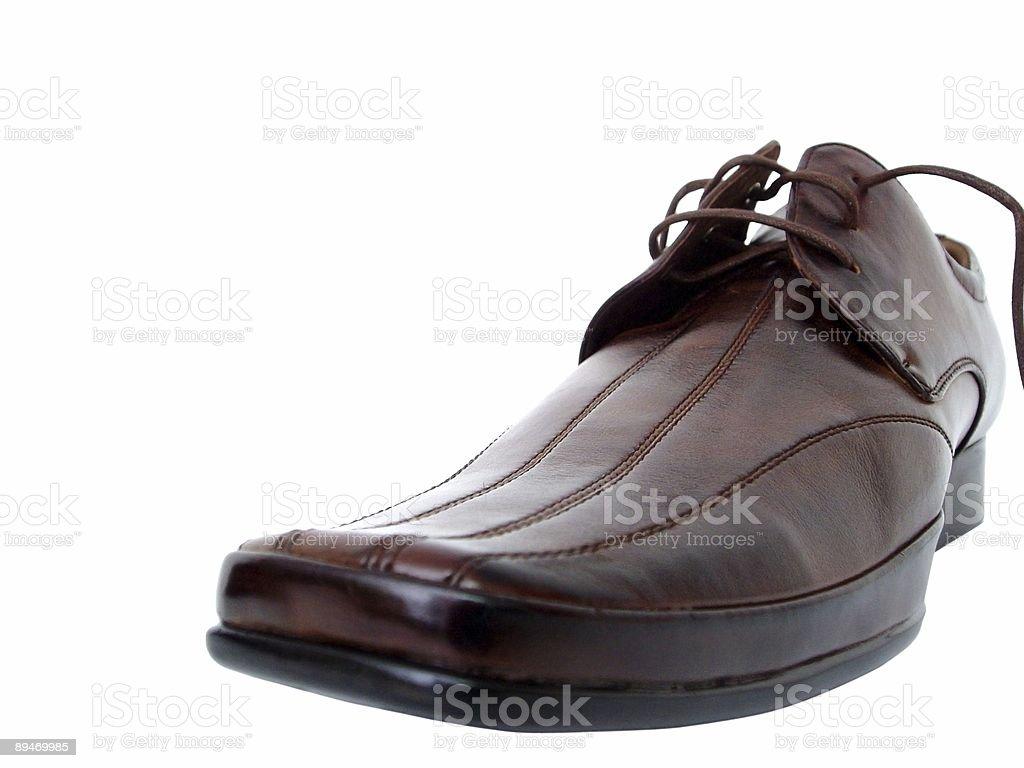 brown shoe Lizenzfreies stock-foto