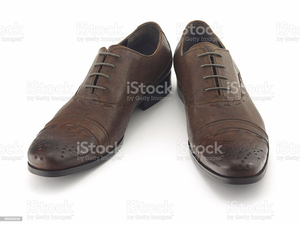 Brown shoes royalty-free stock photo
