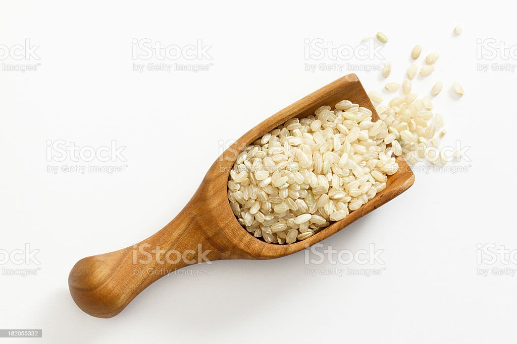 Brown Short Grain Rice royalty-free stock photo