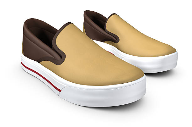Brown Slip On Shoes stock photo
