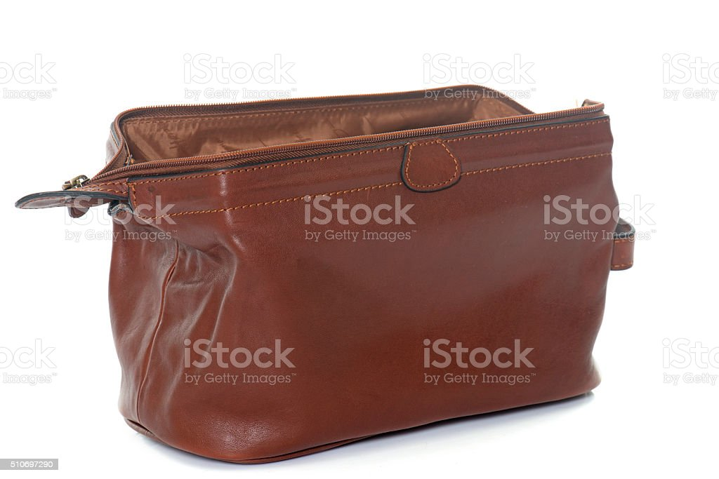 brown sponge bag stock photo