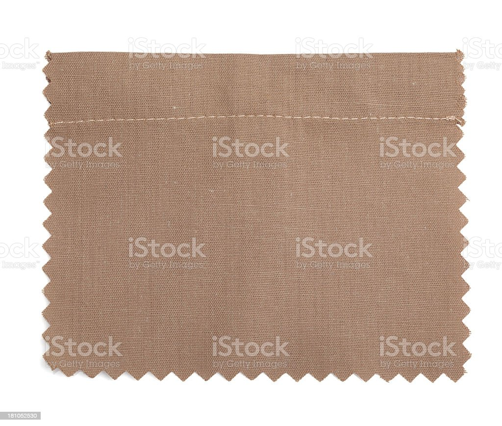 Brown Stitched Fabric Swatch royalty-free stock photo