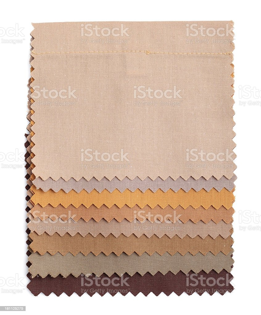 Brown Stitched Fabric Swatches royalty-free stock photo