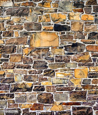 Brown stone wall background or texture