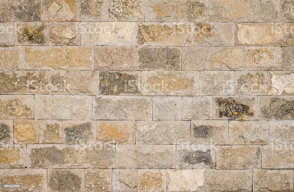 brown stone wall royalty-free stock photo