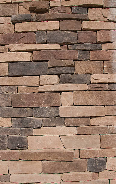 Brown Stone Wall Texture stock photo
