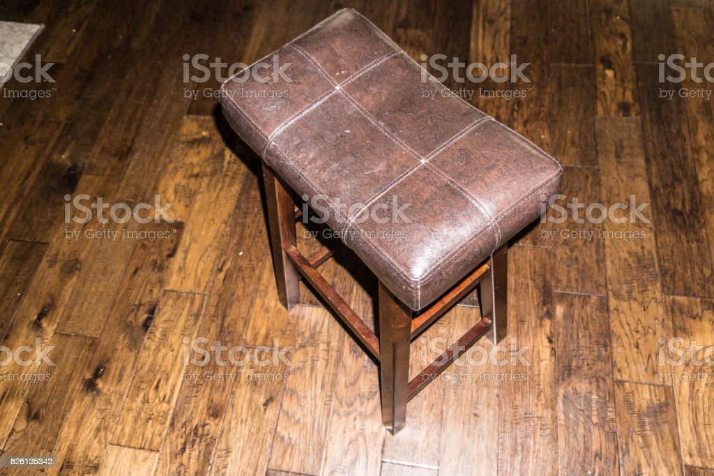 Brown Stool stock photo