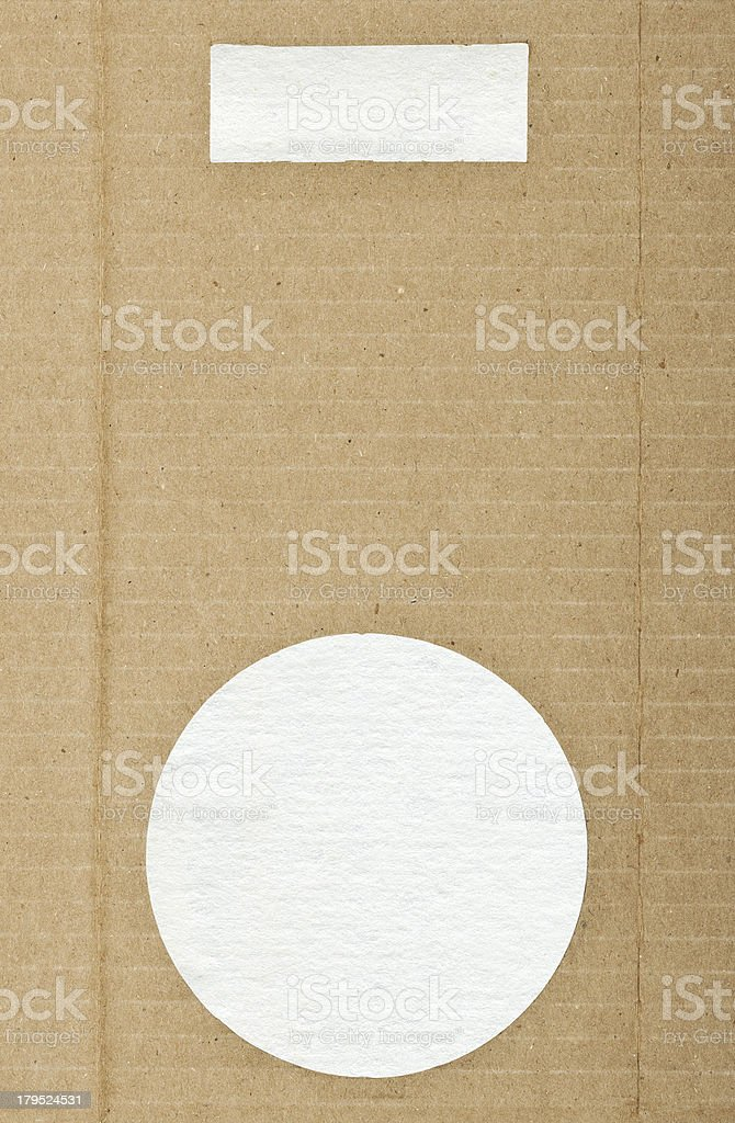 Brown striped cardboard paper texture with copy space,design element royalty-free stock photo