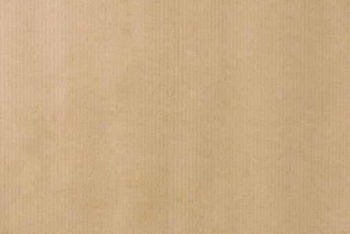 Brown Striped Recycle Paper Texture For Wraping Kraft Paper - zdjęcia stockowe i więcej obrazów Beżowy