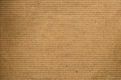 Close up brown striped recycle paper texture for