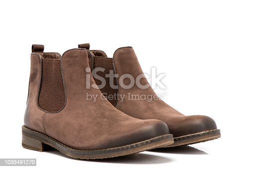 Brown Suede Boots For Men