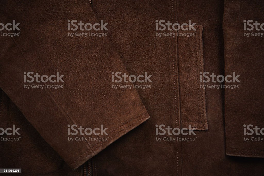 Brown suede jacket stock photo