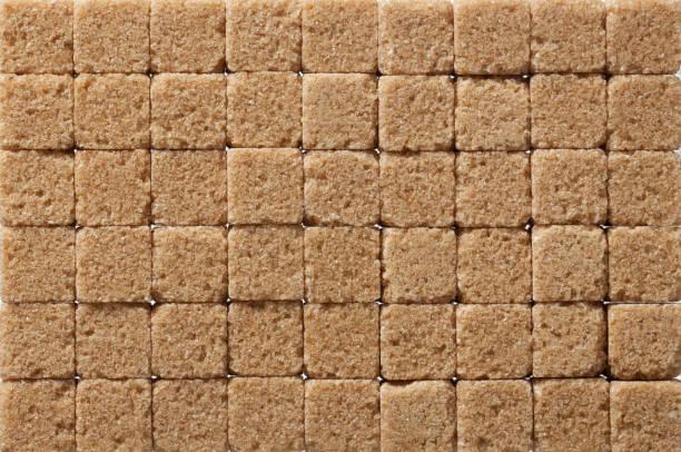 Brown sugar background. stock photo