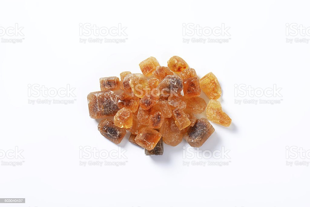 brown sugar crystals stock photo