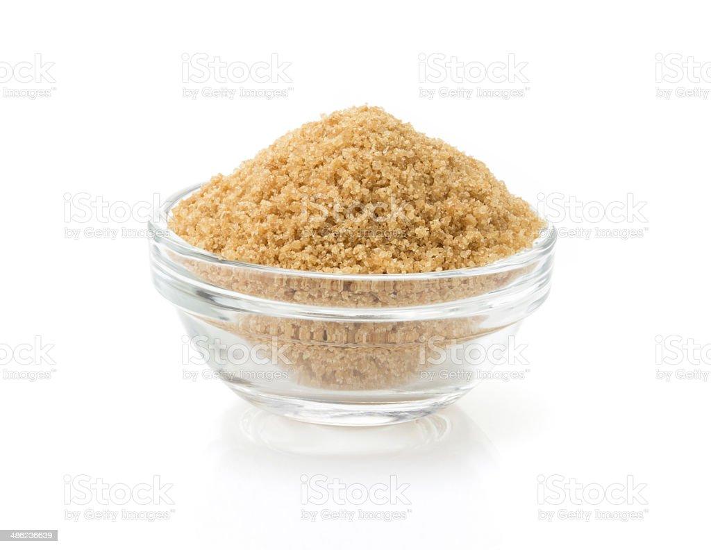 Brauner Zucker in bowl – Foto