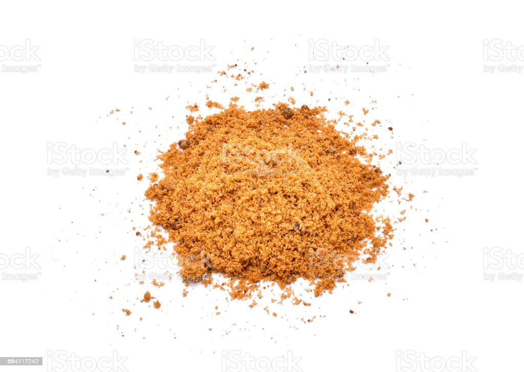 brown sugar isolated on white background royalty-free stock photo