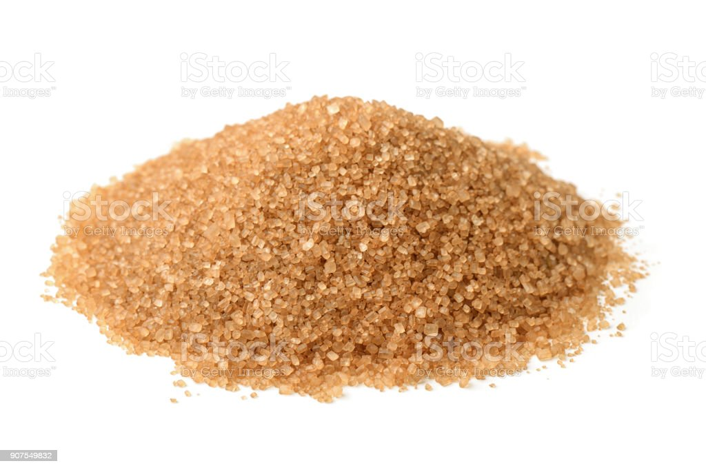 Brown sugar stock photo