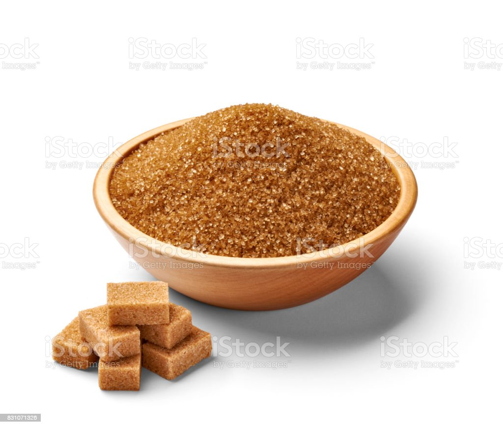 brown sugar sweet food crystal ingredient stock photo