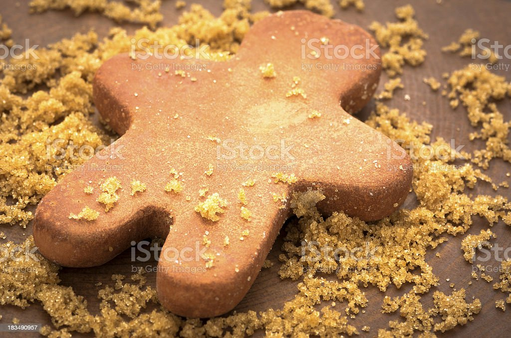 Brown Sugar with Clay Man-Shaped Moisturizer royalty-free stock photo