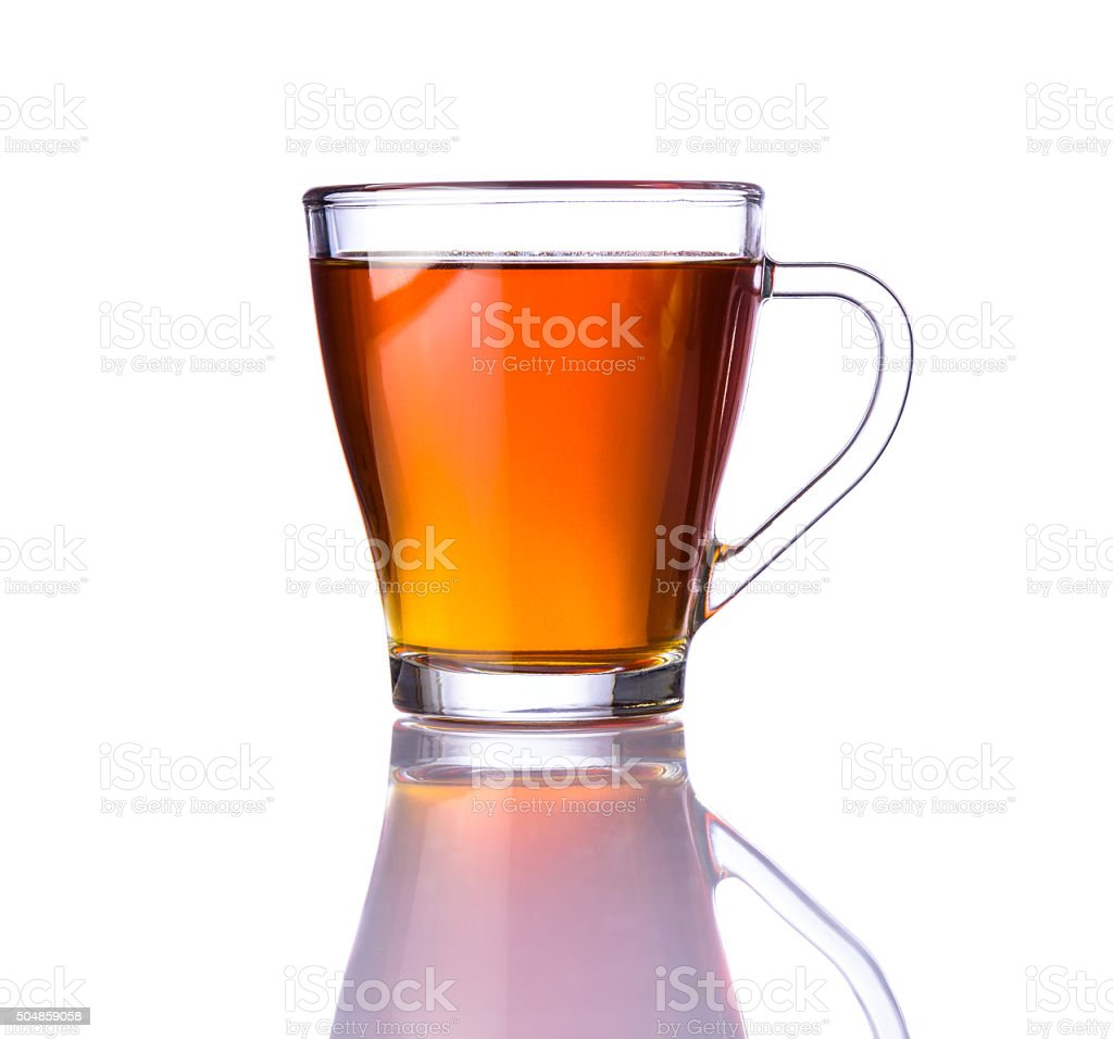 Brown Tea Isolated on White Background stock photo