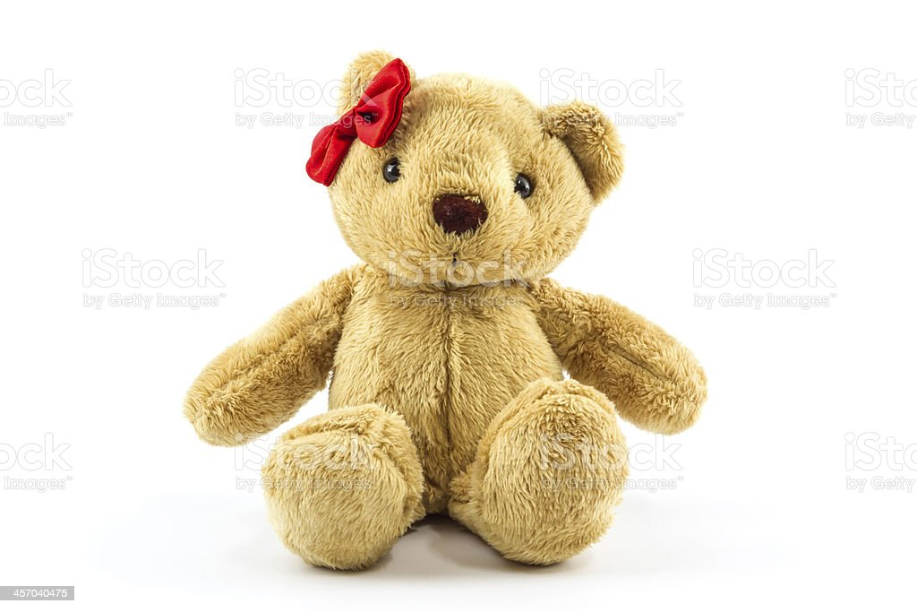 Brown teddy bear. stock photo
