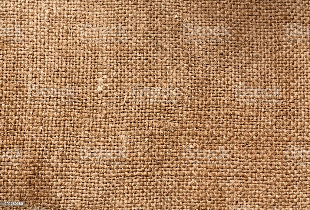 Brown textile sack texture stock photo