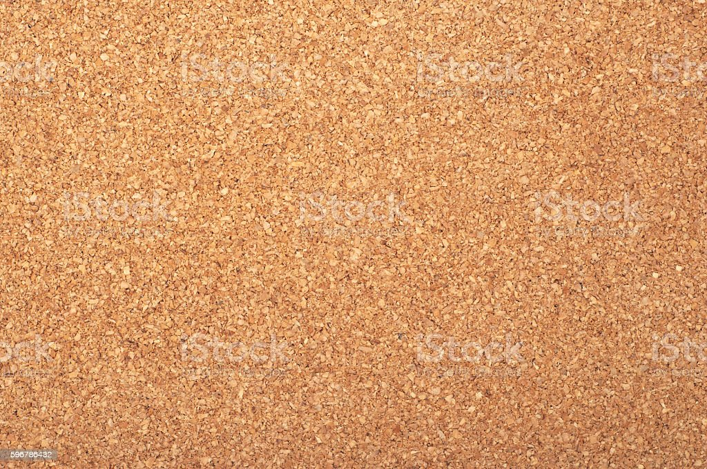 Brown textured cork - closeup stock photo