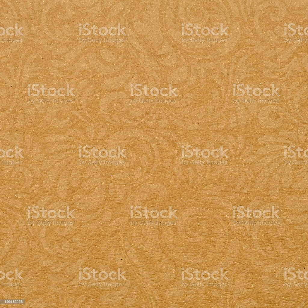 brown textured paper with symbol stock photo