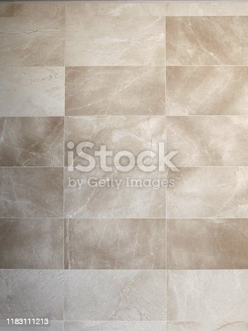Shot of a brown colored tiled wall