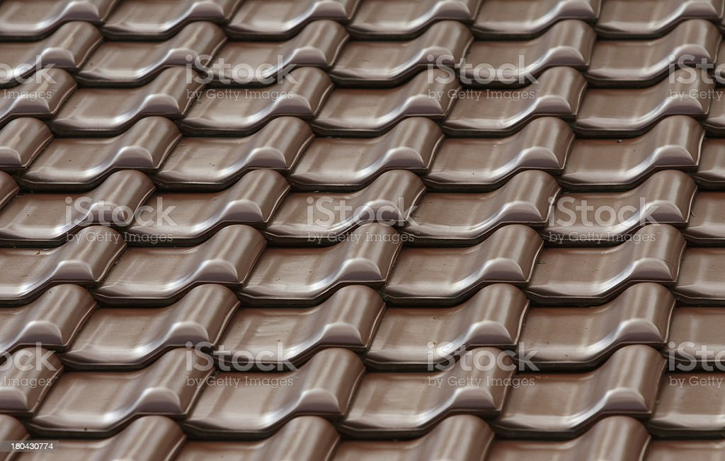 brown tiles on the roof royalty-free stock photo
