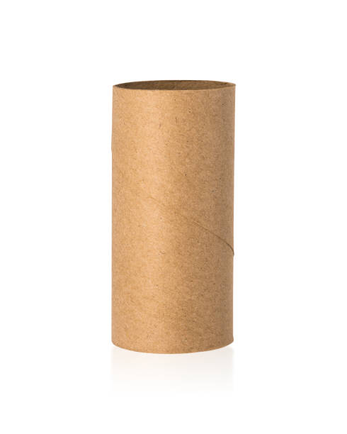 Brown tissues core isolated on white background. Empty paper roll or recycle cardboard. ( Clipping paths or cut out object for montage ) Brown tissues core isolated on white background. Empty paper roll or recycle cardboard. ( Clipping paths or cut out object for montage ) toilet paper stock pictures, royalty-free photos & images