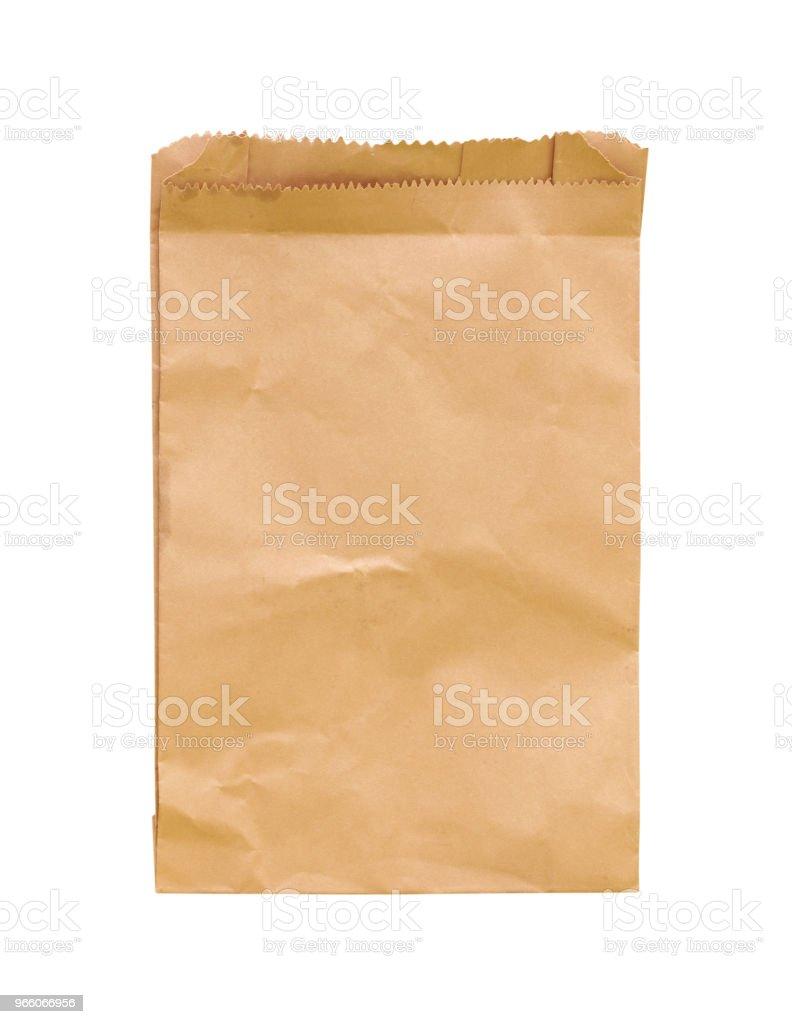 Brun sönderrivna kuvert isolerad på vit bakgrund - Royaltyfri Antik Bildbanksbilder